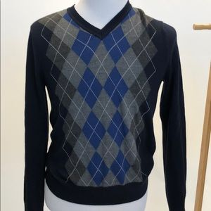 Blue Banana Republic Argyle Sweater
